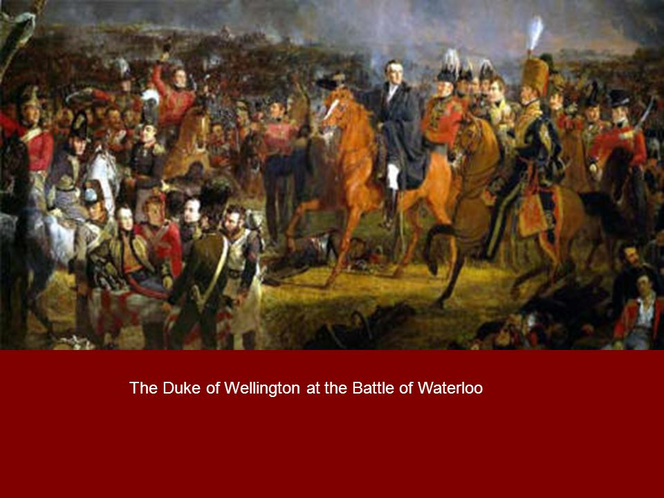 The Duke of Wellington at the Battle of Waterloo