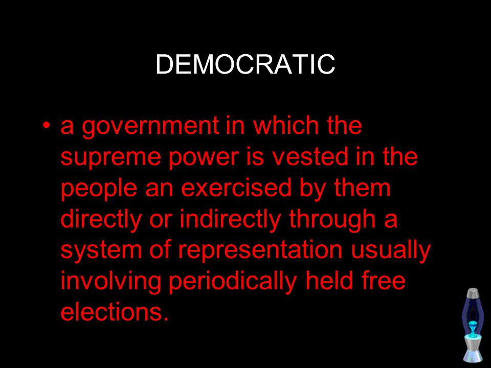 Representative democracy