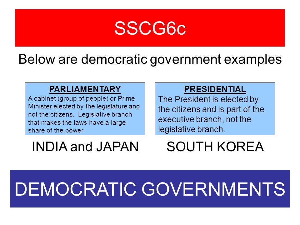 DEMOCRATIC GOVERNMENTS