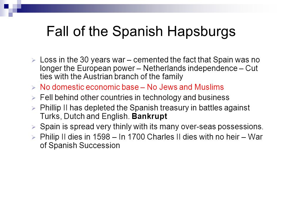Fall of the Spanish Hapsburgs