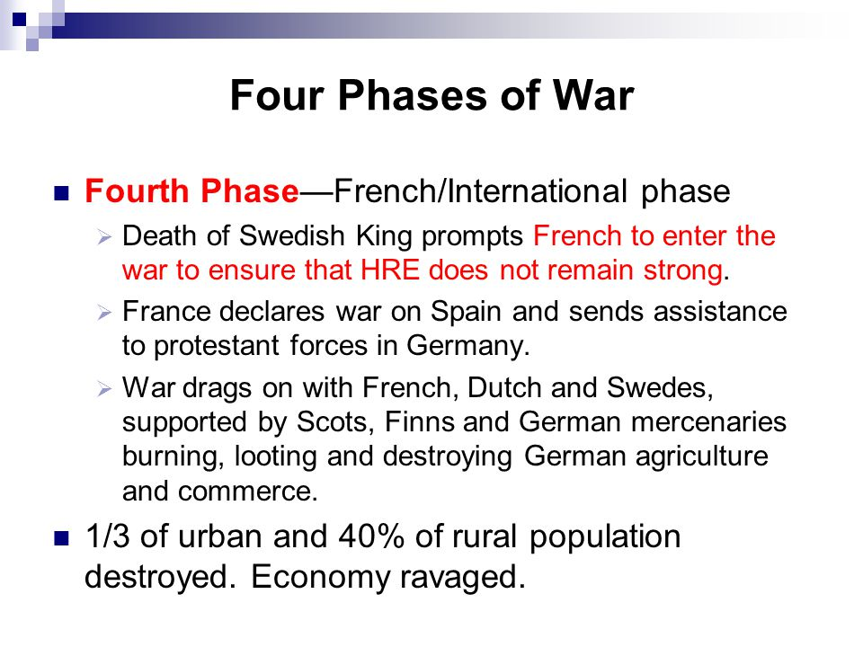 Four Phases of War Fourth Phase—French/International phase