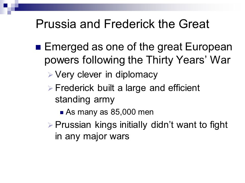 Prussia and Frederick the Great