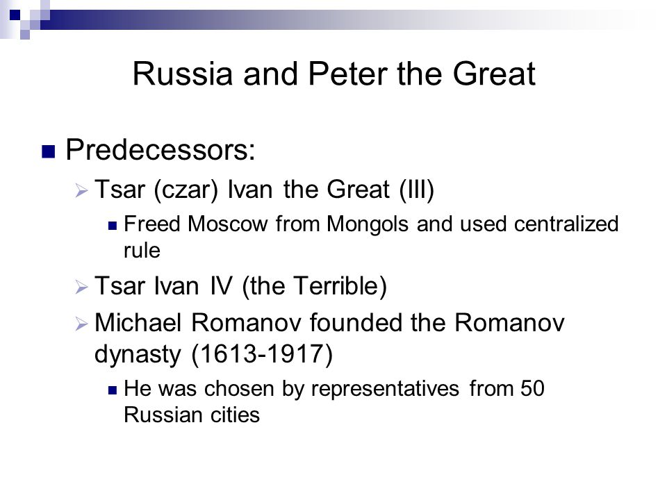 Russia and Peter the Great