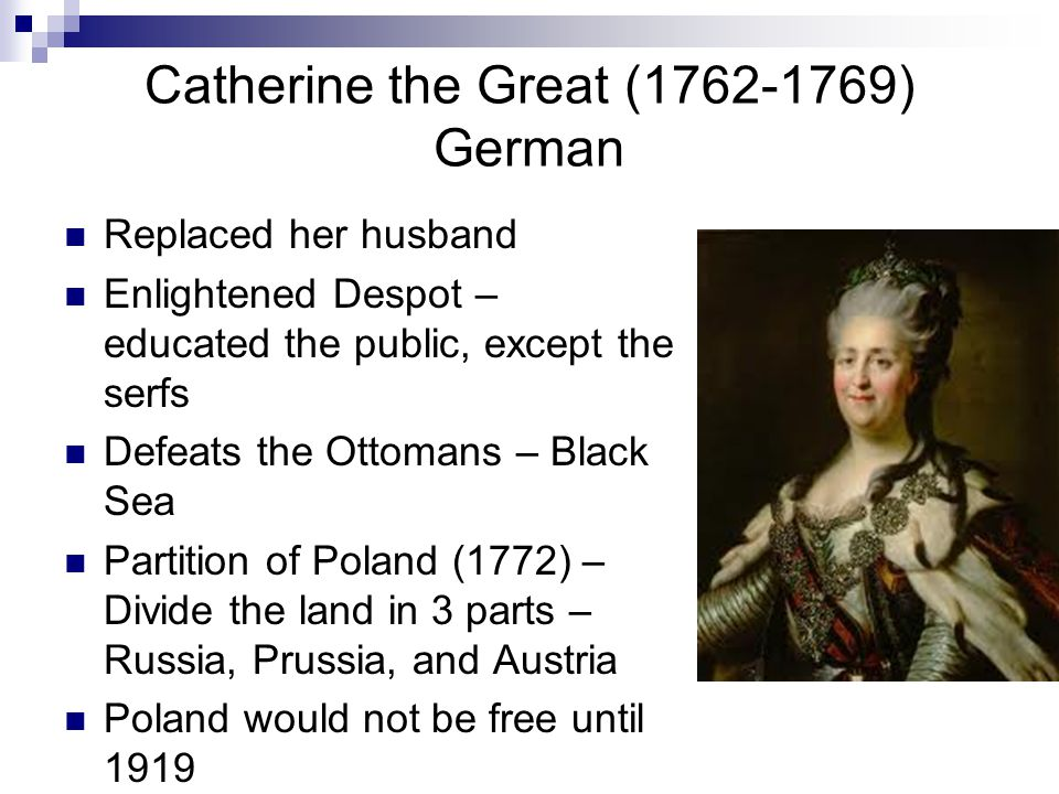 Catherine the Great (1762-1769) German