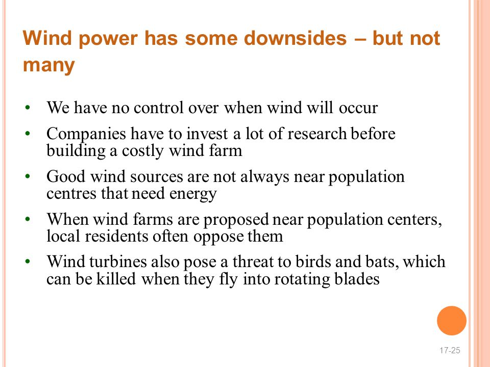 Wind power has some downsides – but not many