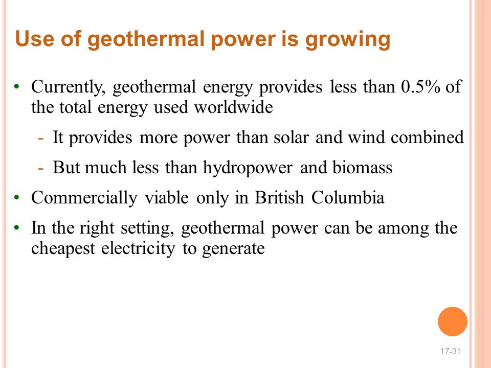 Use of geothermal power is growing