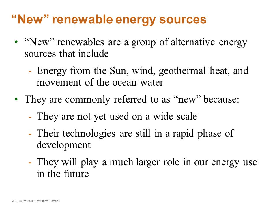 New renewable energy sources