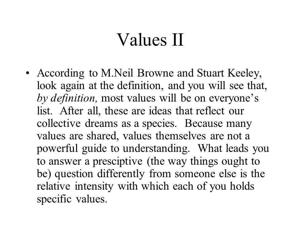 Values II
