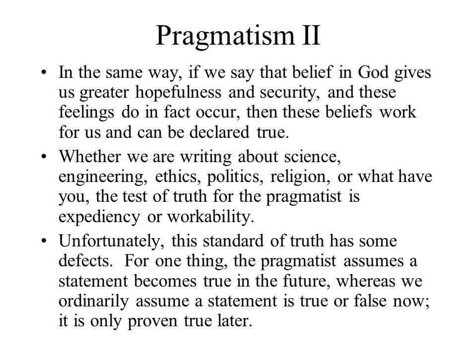 Pragmatism II