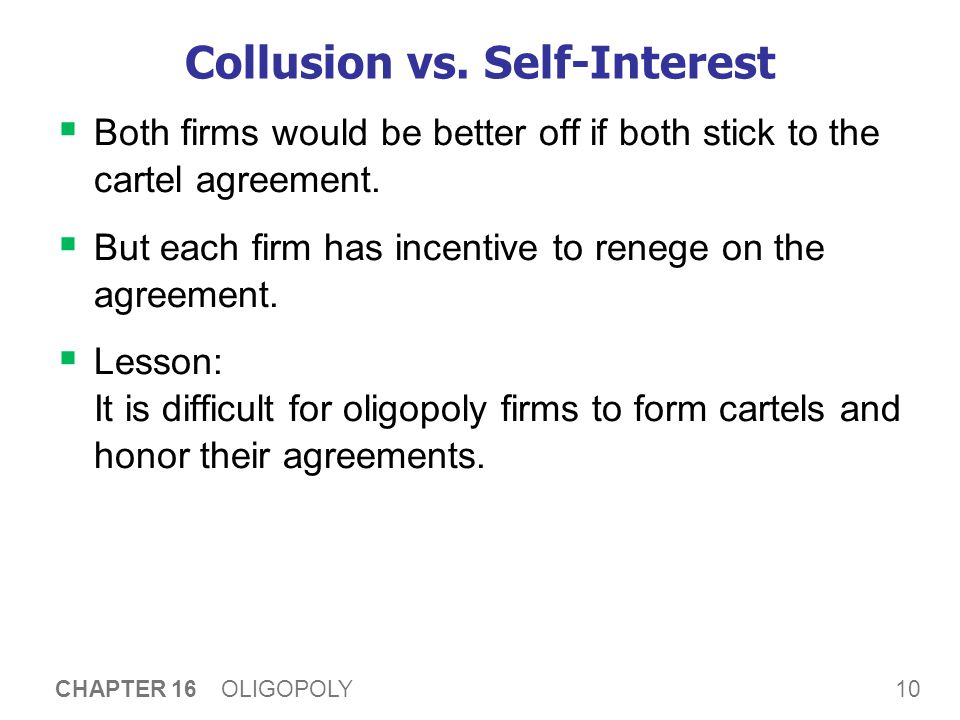A C T I V E L E A R N I N G 2: The oligopoly equilibrium
