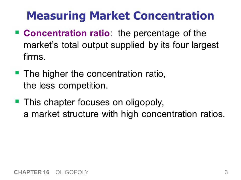 Concentration Ratios in Selected U.S. Industries