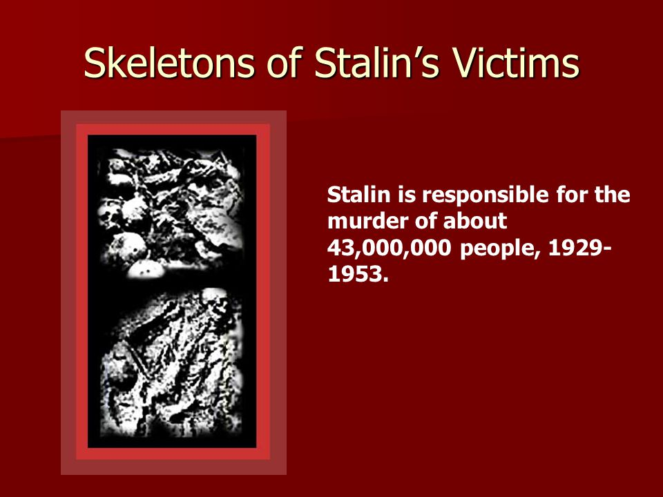 Skeletons of Stalin's Victims