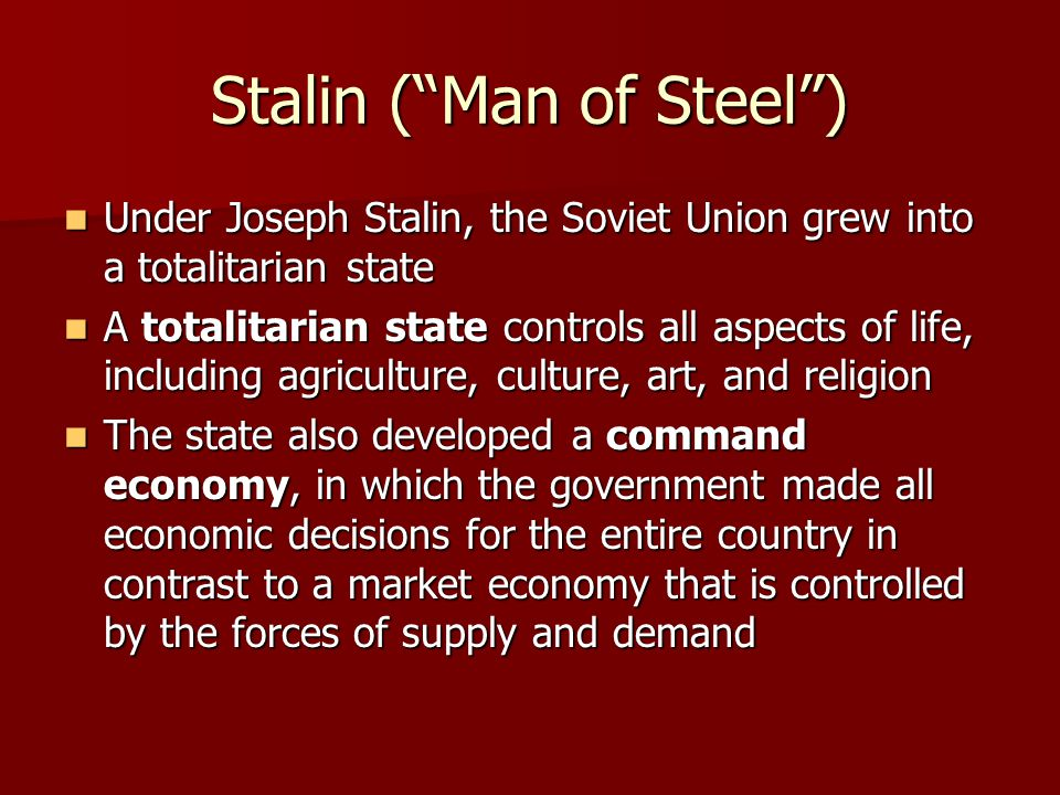 stalin man of steel Early life while attending school at tifilis theological seminary, stalin came in contact with a group that supported georgian independance from russia named mesame dasi.