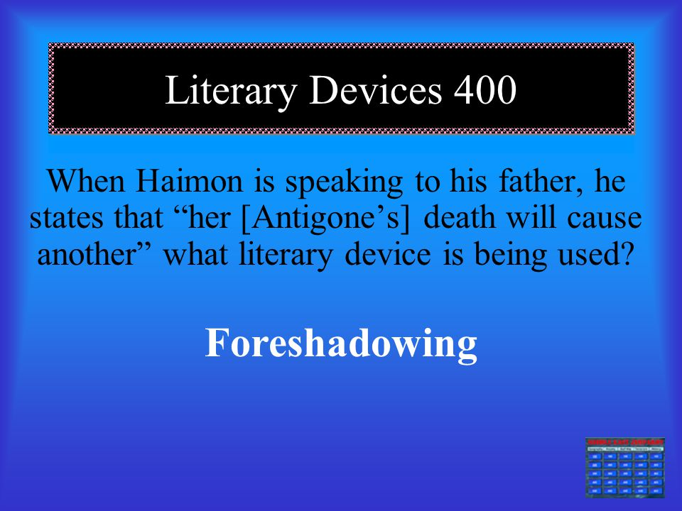 Literary Devices 400 Foreshadowing
