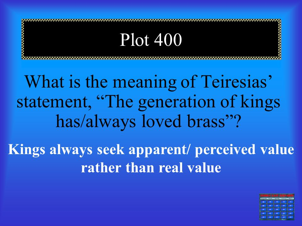 Kings always seek apparent/ perceived value rather than real value