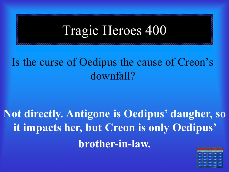 Is the curse of Oedipus the cause of Creon's downfall