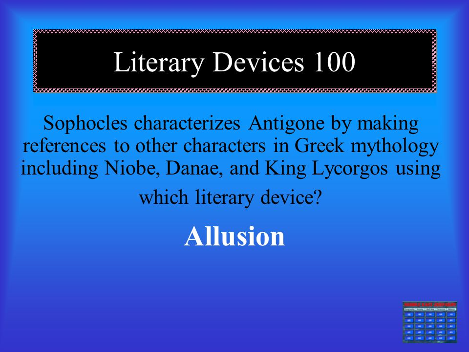 Literary Devices 100 Allusion