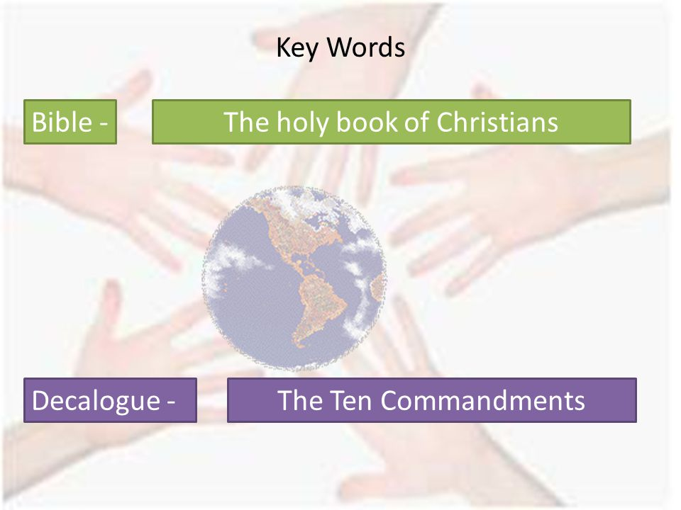 The holy book of Christians