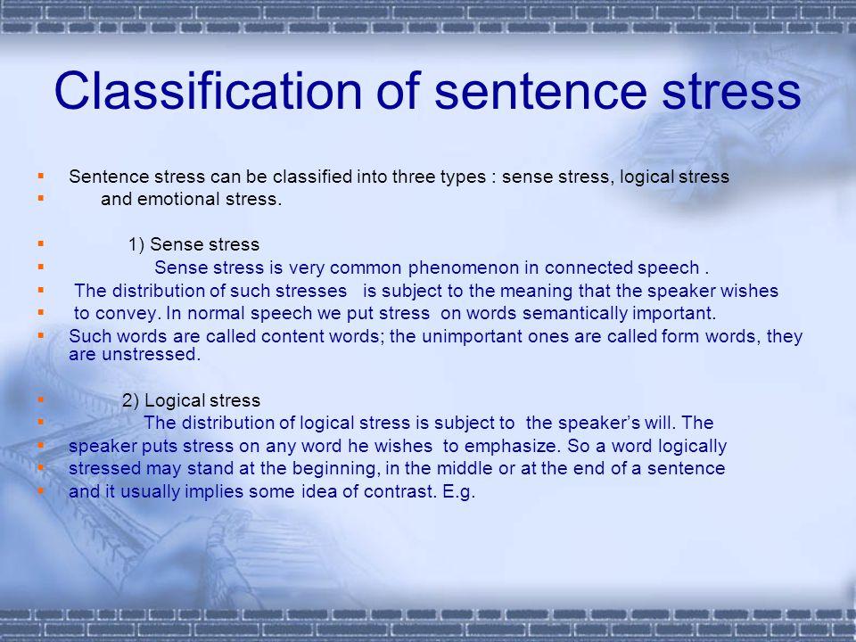 Classification of sentence stress