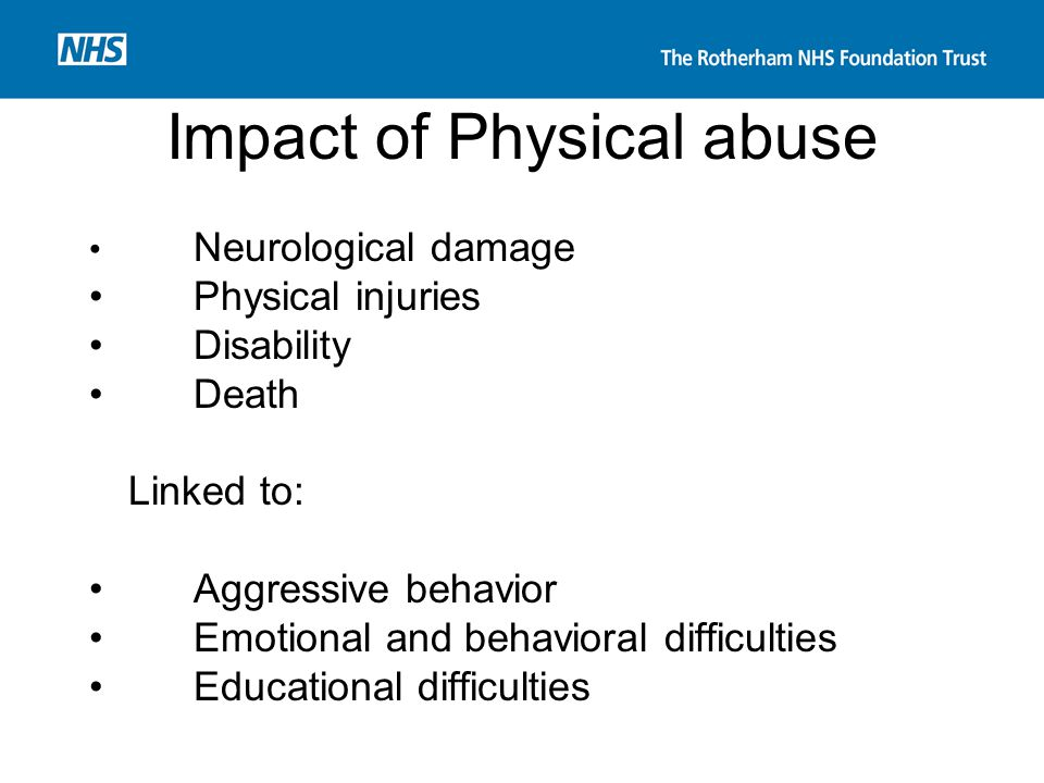 Impact of Physical abuse