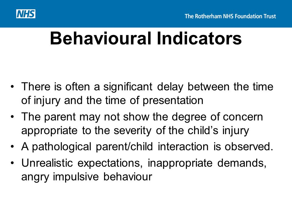 Behavioural Indicators