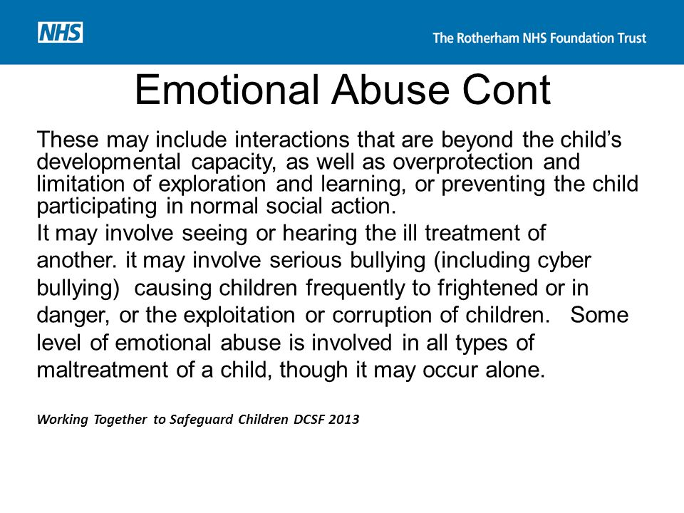 Emotional Abuse Cont