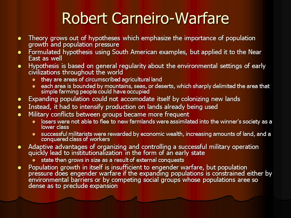 Robert Carneiro-Warfare