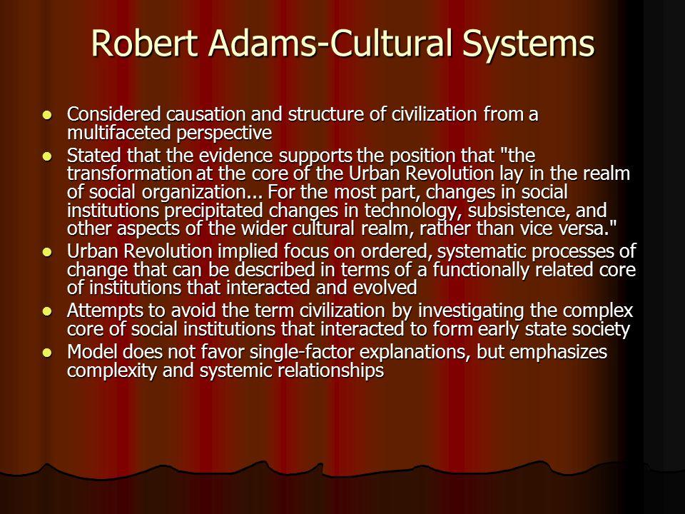 Robert Adams-Cultural Systems