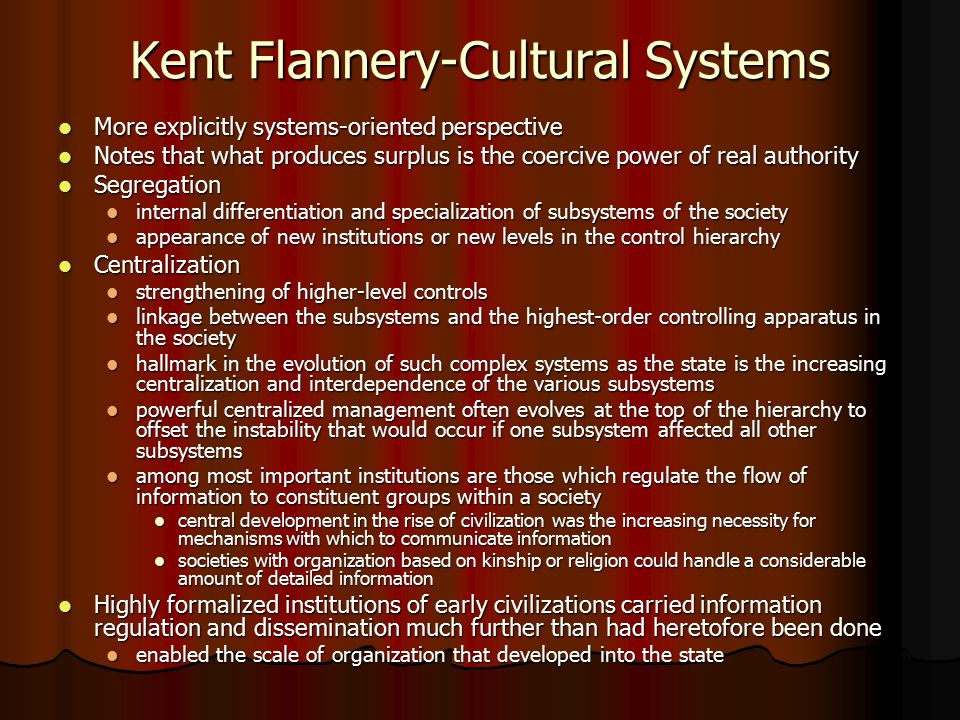 Kent Flannery-Cultural Systems
