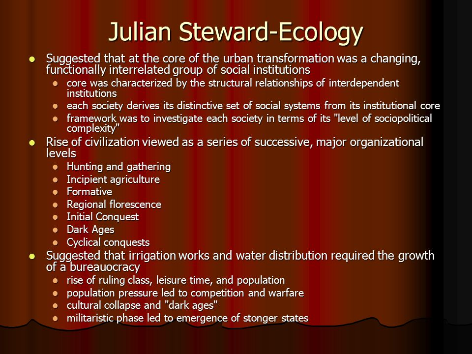 Julian Steward-Ecology