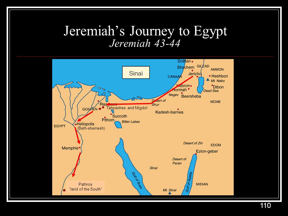 Jeremiah's Journey to Egypt Jeremiah 43-44