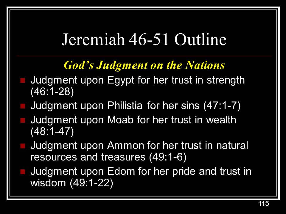 God's Judgment on the Nations