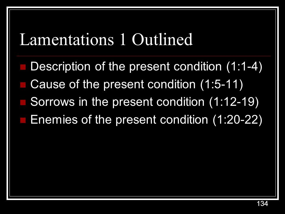 Lamentations 1 Outlined