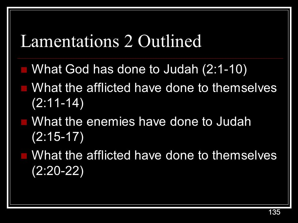 Lamentations 2 Outlined