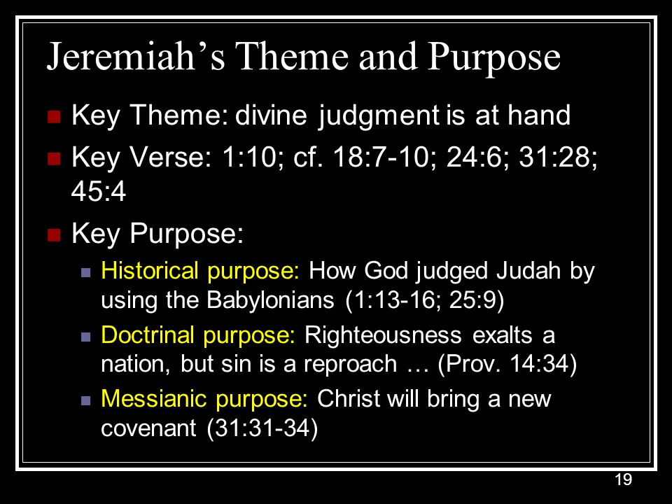 Jeremiah's Theme and Purpose