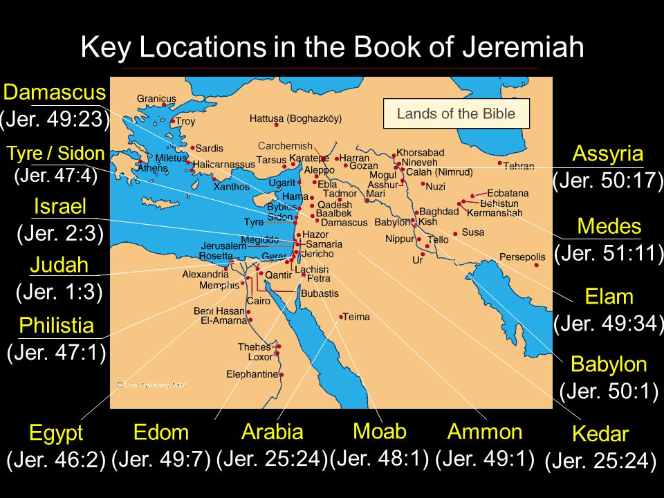 Key Locations in the Book of Jeremiah