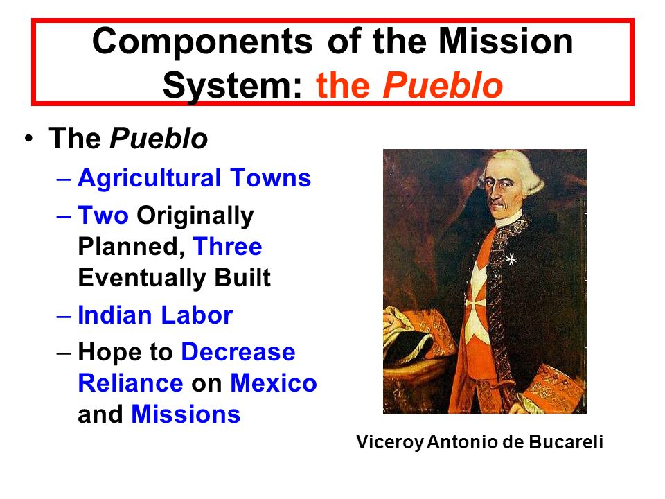 Components of the Mission System: the Pueblo