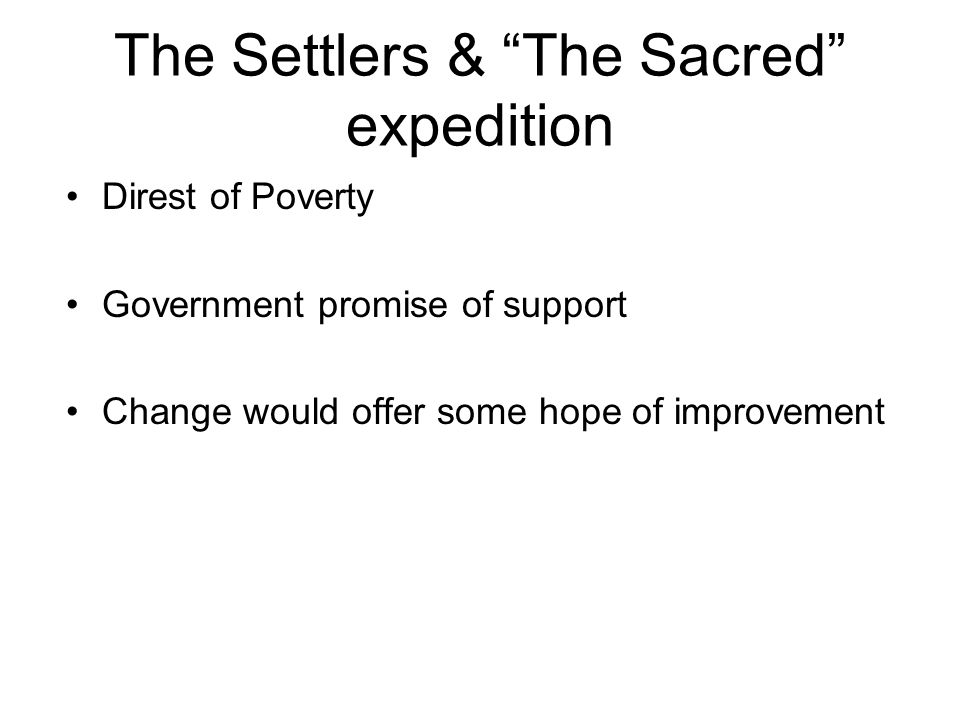 The Settlers & The Sacred expedition