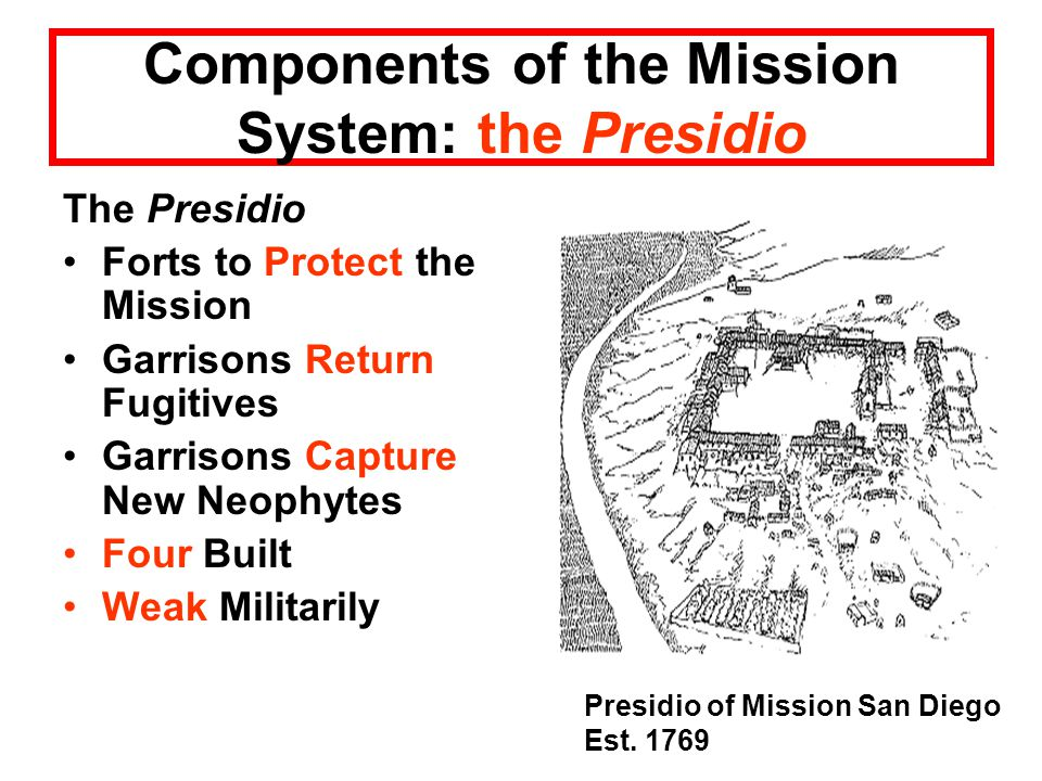 Components of the Mission System: the Presidio