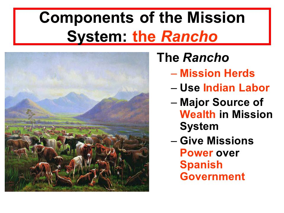 Components of the Mission System: the Rancho