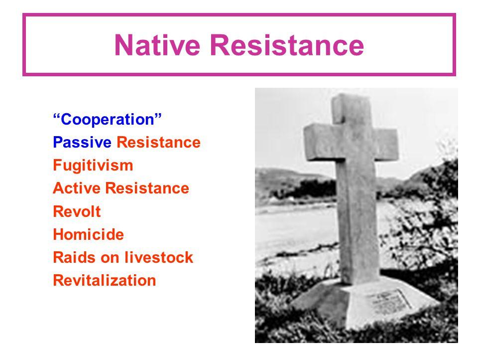 Native Resistance Cooperation Passive Resistance Fugitivism