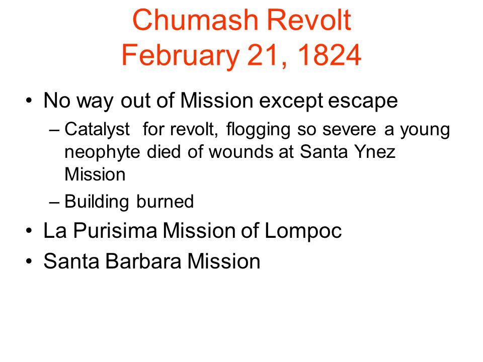 Chumash Revolt February 21, 1824