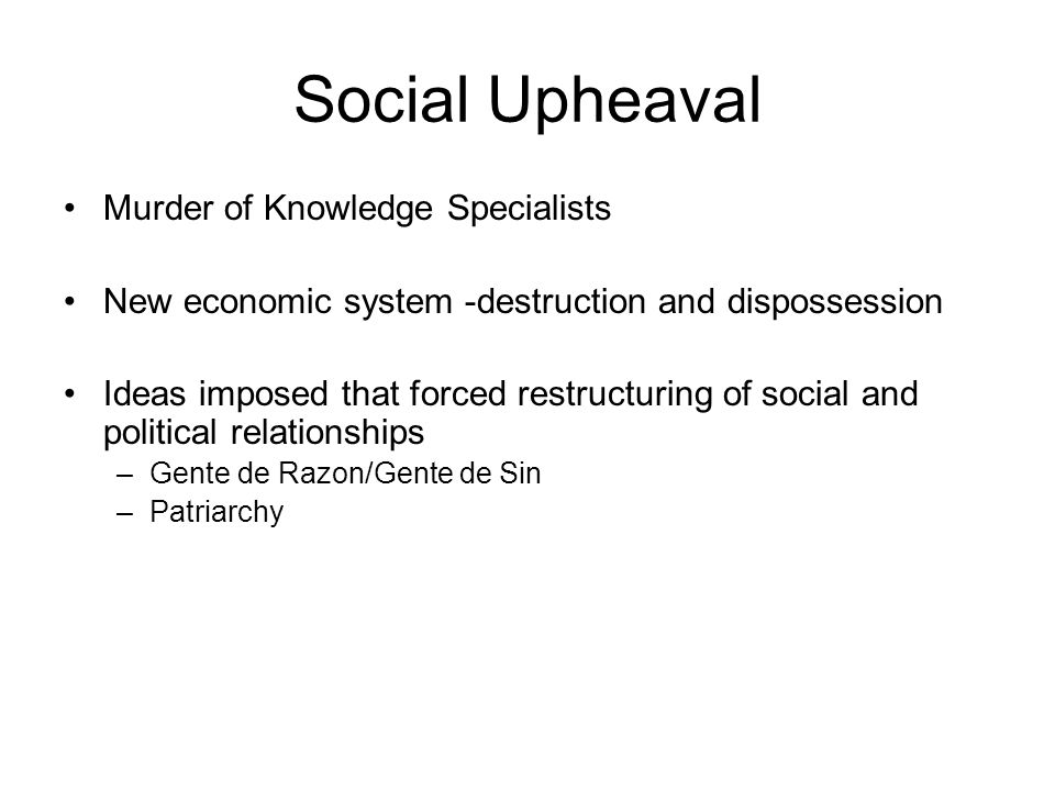 Social Upheaval Murder of Knowledge Specialists