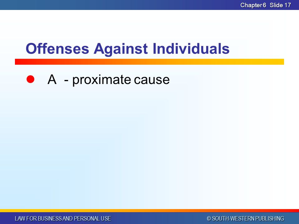 Offenses Against Individuals