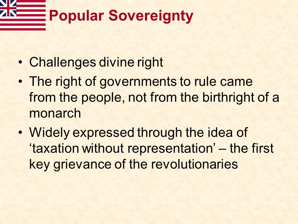 Popular Sovereignty Challenges divine right
