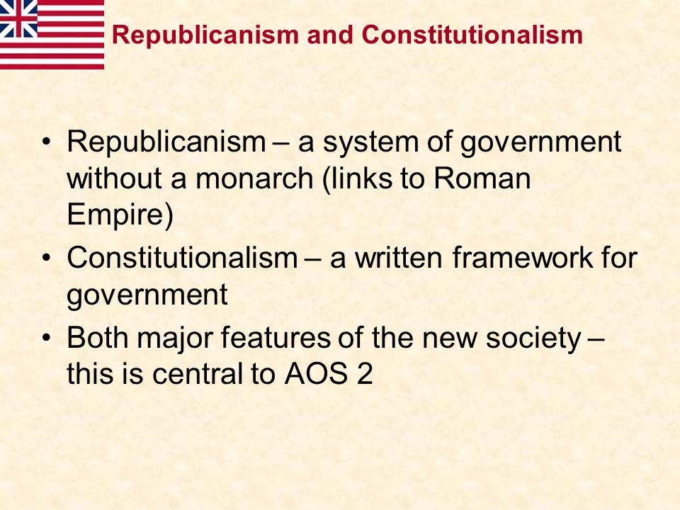 Constitutionalism – a written framework for government