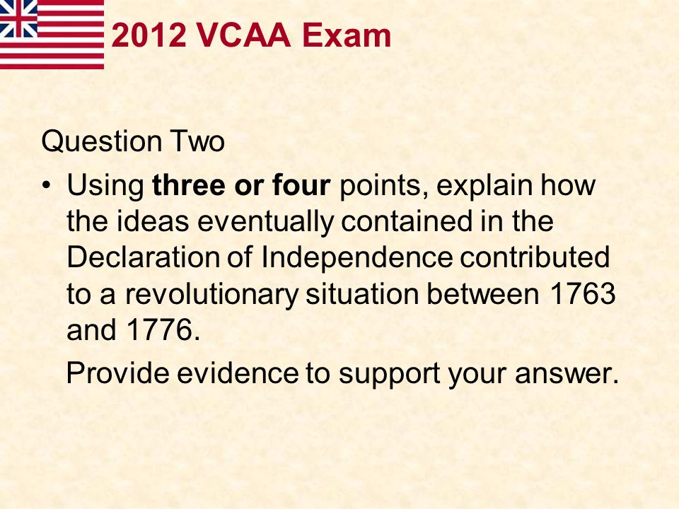 2012 VCAA Exam Question Two.