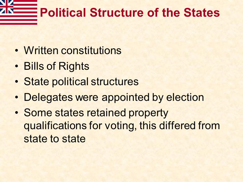 Political Structure of the States