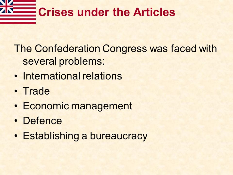 Crises under the Articles