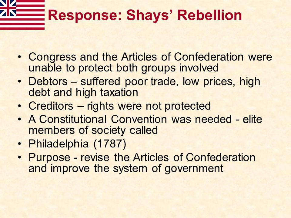 Response: Shays' Rebellion